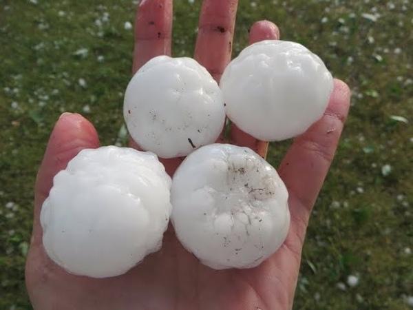 AMERİKA'YI DOLU VURDU Oklahoma Eyaletini Dolu fırtınası Esir Aldı hail storm Oklohoma city