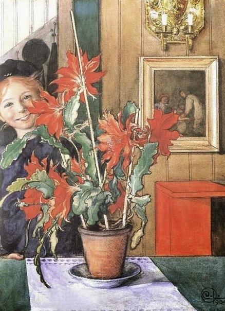 «Бритта с кактусом», Карл Ларссон
