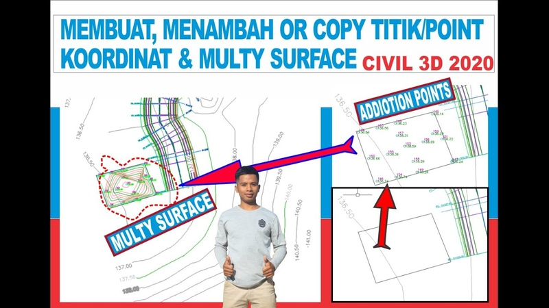 Penting Belum Pernah Dibahas Cara Create Add or Edit Points Multy Surface Kontur Civil 3D