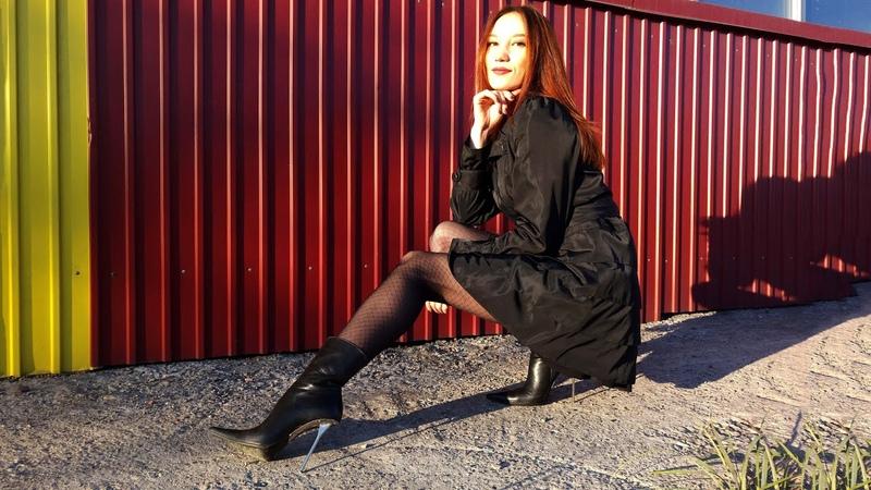 Christina in Gianmarco Lorenzi pointed toe stiletto ankle boots 37 Кристина Кожина Sep 10 2017