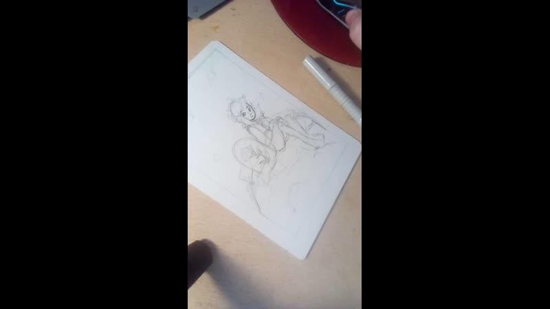 рисую открытку для письма с Маленьким Принцем 3