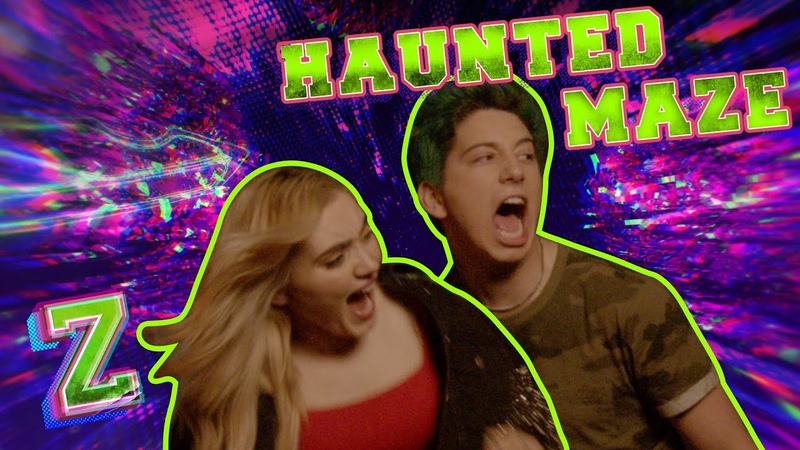 Meg and Milo Take on the Haunted Maze Challenge 🎃 ZOMBIES 2 Disney Channel