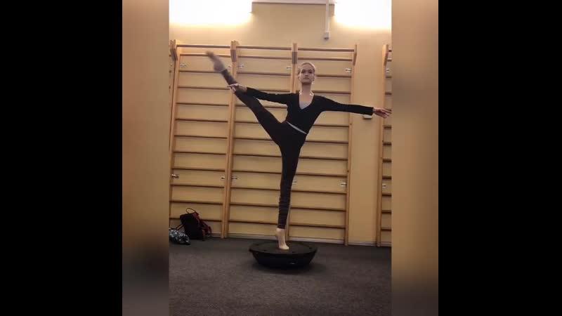 Тренировка балерины