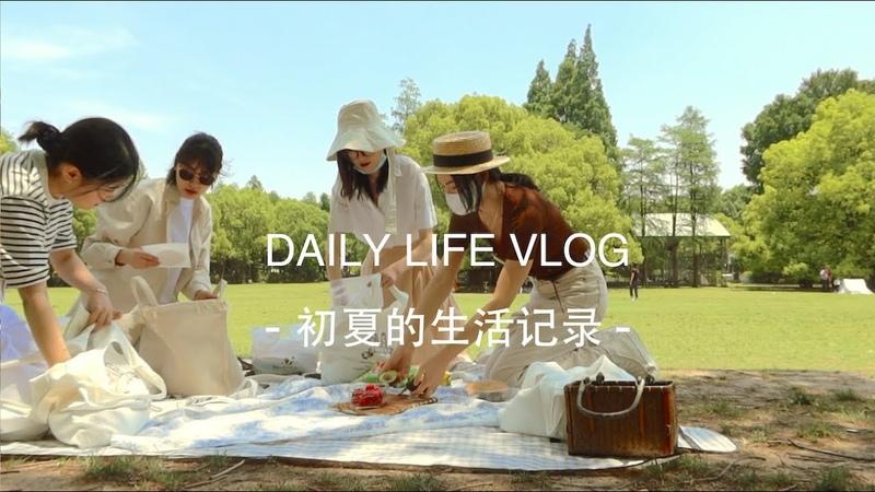 VLOG 60 Early Summer Life   Make cookies Picnic Lemon syrup and black tea Shanghai Cafe