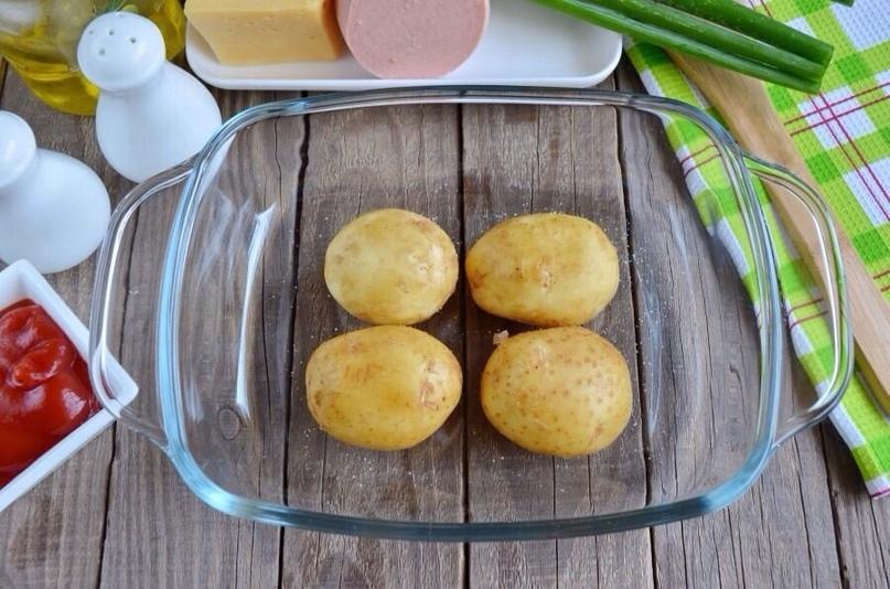 Пицца в картофельных лодочках, изображение №2