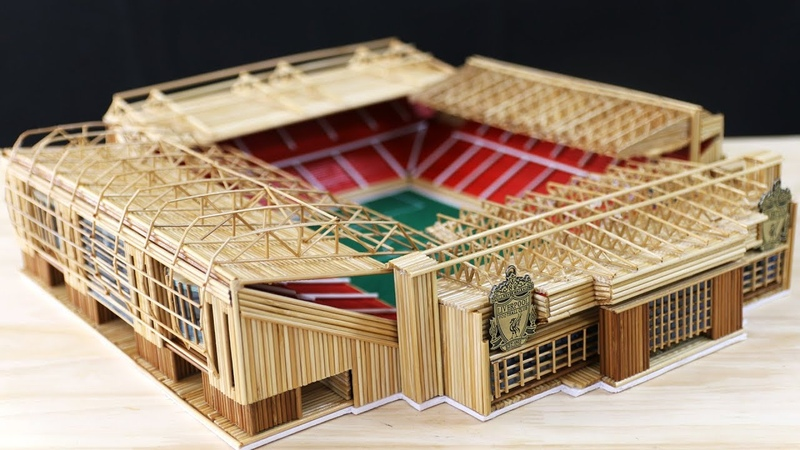 How to make the Anfield stadium of Liverpool with Wooden sticks