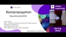 NYU Deep Learning Week 2 – Lecture: Stochastic gradient descent and Backpropagation