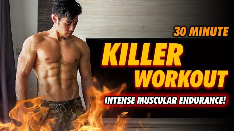 [Level 5!] 30 Minute Killer Bodyweight Workout!