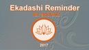 Ekadashi Reminder for ISKCON and Gaudiya Vaishnavas v.2017.05.27