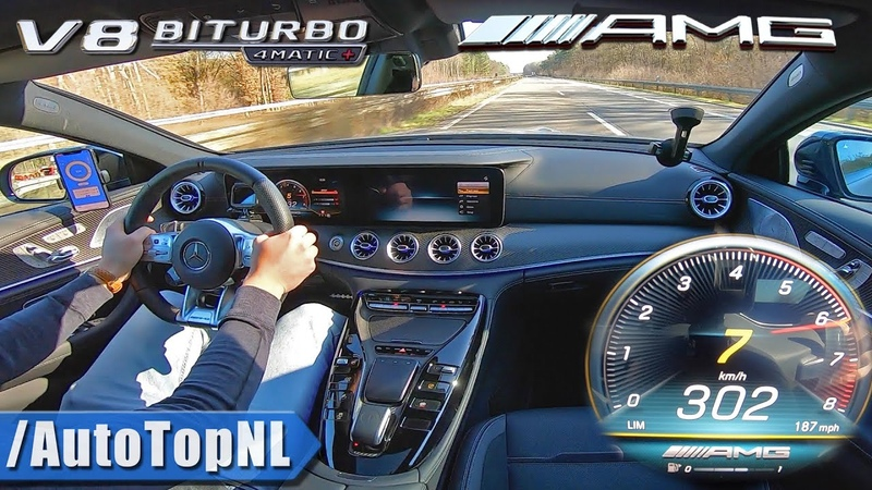 Mercedes AMG GT 63 S 4Matic 302km h AUTOBAHN NO SPEED LIMIT by AutoTopNL