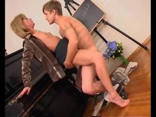 Порно с учитльницой
