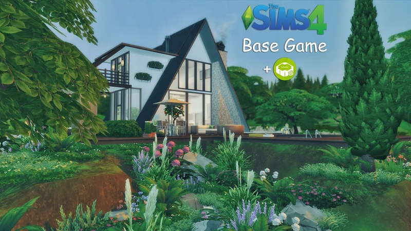 A-Frame House | Base game Patio Stuff ( No CC ) | Speed Build | THE SIMS 4