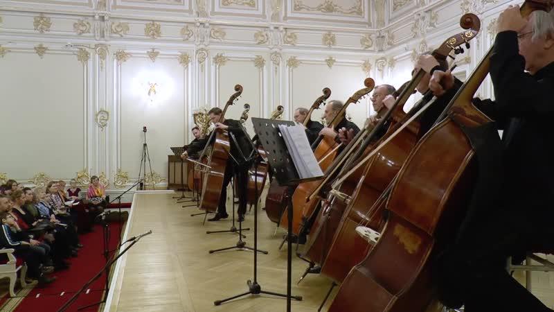 156 (1) J.S. Bach - Ich steh mit einem Fuß im Grabe, BWV 156 1. Sinfonia - Double bass group of St.Petersburg Philharmonie