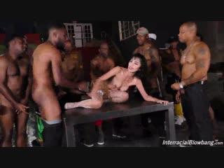 Marica Hase – Interracial Blowbang [DogFart Network. HD1080, Asian, Big Black Cock, BlowJob, Group S