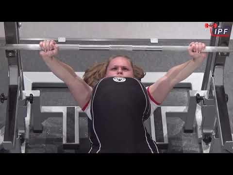 Beketova Marina RAW bench press 95kg@52kg WC 2019 Tokio