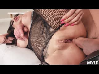 Trinity St Clair - Sneaking in her Backdoor - All Sex Anal MILF Big Tits Fishnets Doggystyle Facial, Porn, Порно
