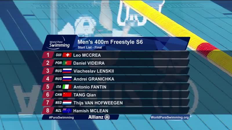 Men`s 400m Freestyle S6 Final ¦ London 2019