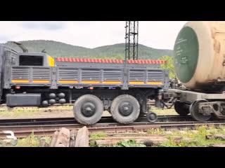 Локомобиль на базе Урал Некст