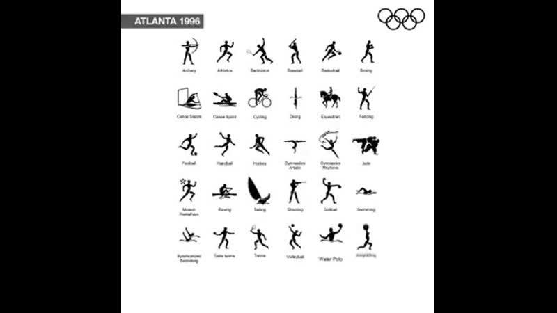 初めてピクトグラムが導入された1964東京オリンピックから2020東京オリンピック @Tokyo2020jp までの夏季オリンピックスポーツピクトグラムの移り変わり 500