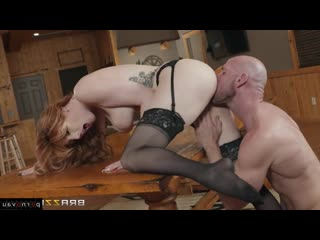 Johnny Sins & Lauren Phillips [ In stockings,Чулки &  Redhead / In pantyhose, In clothes, Curly, Cumshot in mouth, Riding di