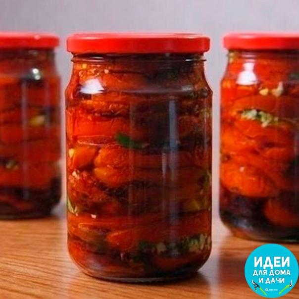 ПОМИДОРЫ ПО-КОРЕЙСКИ АМБРОЗИЯ НА ЗИМУ ИНГРЕДИЕНТЫ: спелые (не перезрелые) помидоры 2 кг, морковь 4 штуки, болгарский перец 5 штук, уксус 9% 100 мл, растительное масло 100 мл, чеснок 5