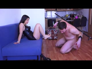 Magyar Mistress Mira - The Reward of Negligence - Extreme mouth stretching ang ancle deep foot gagging cuckold femdom