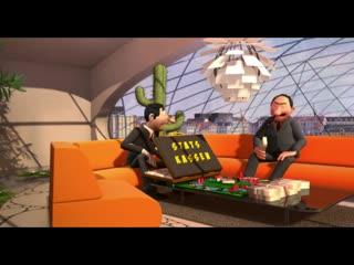 Экспедиция на Сатурн (2008, Дания) (мультфильм для взрослых, черный юмор, фантастика) (перевод многоголосый)