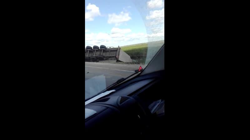 Последствия аварии на трассе Омск-Тюкалинск (18.06.2019)