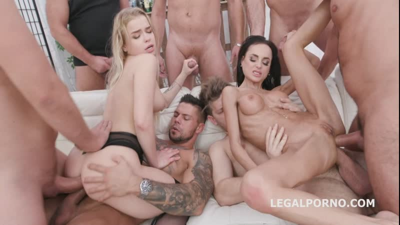 Russian Beauty 2 Aletta Black and Alexa Flexy 7on2 Balls Deep Anal, Gapes, DAP, ATOGM, Cumswap with Swallow