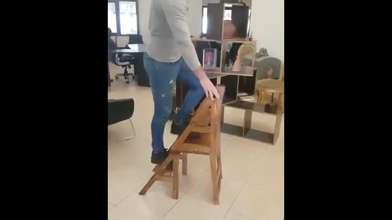 Удобный вариант- стул-стремянка