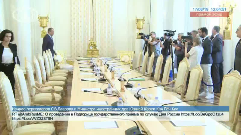 Переговоры С.В.Лаврова и Министра иностранных дел Южной Кореи Кан Гён Хва