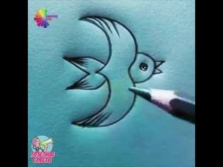 рисуем птичек