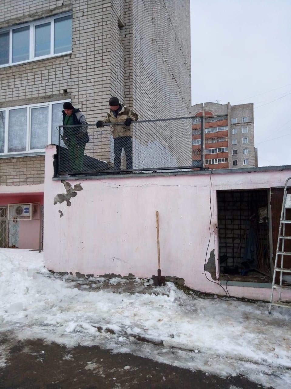 Улица Упита дом 3 установка ограждения по