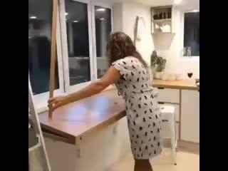 Экономим кухонное пространство. Как Вам идея