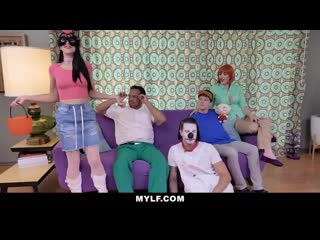 MYLF - Vocal Ginger Milf Fucks Two Family Guys