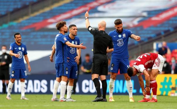 Арсенал - Челси, 2:1. Финал Кубка Англии 2019/20. Удаление Матича