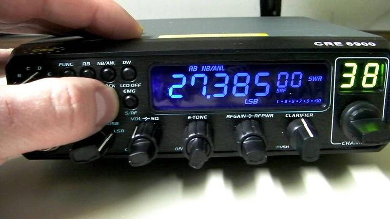 CRE 8900 10 Meter AM FM SSB Ham CB Radio Overview