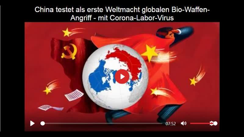 China testet als erste Weltmacht globalen Bio-Waffen-Angriff - mit Corona-Labor-Virus