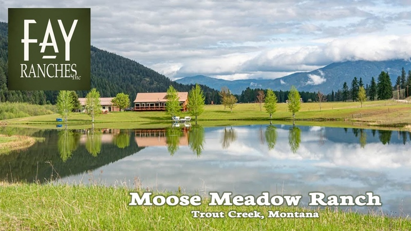 Custom Montana Home For Sale Moose Meadow Ranch Trout Creek MT Recreational Property