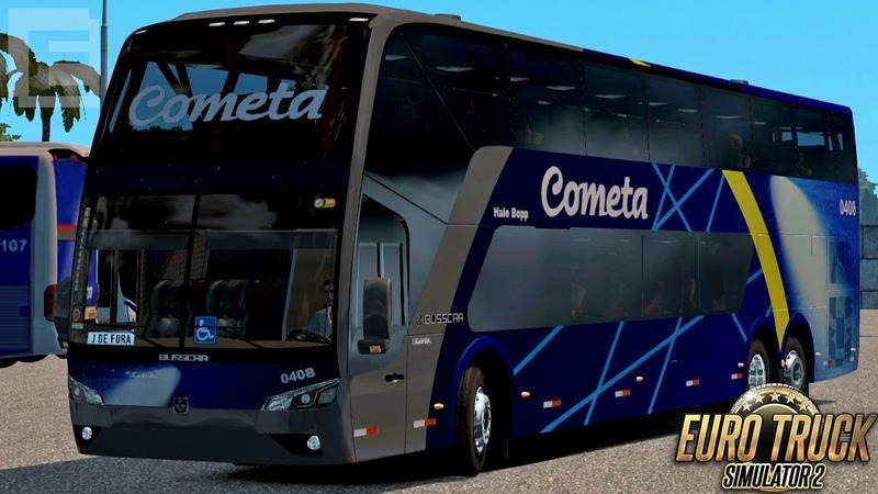Euro Truck Simulator 2 Bus Cometa São Paulo Juiz de Fora RBR EAA