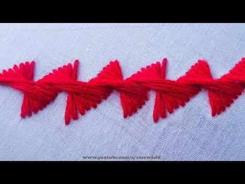 Hand Embroidery Decorative Stitches 8   satin stitch embroidery