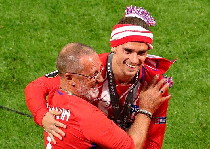 Антуан Гризманн со своим отцом