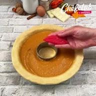 id_47547 Осенний пирог с тыквенным пюре и эффектным оформлением 🍂🎃  Автор: Chef Club  #gif@bon