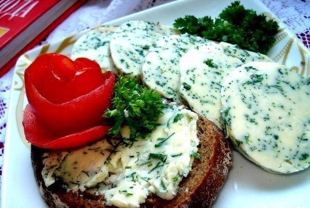 Масло бутербродное домашнее с зеленью, изображение №1