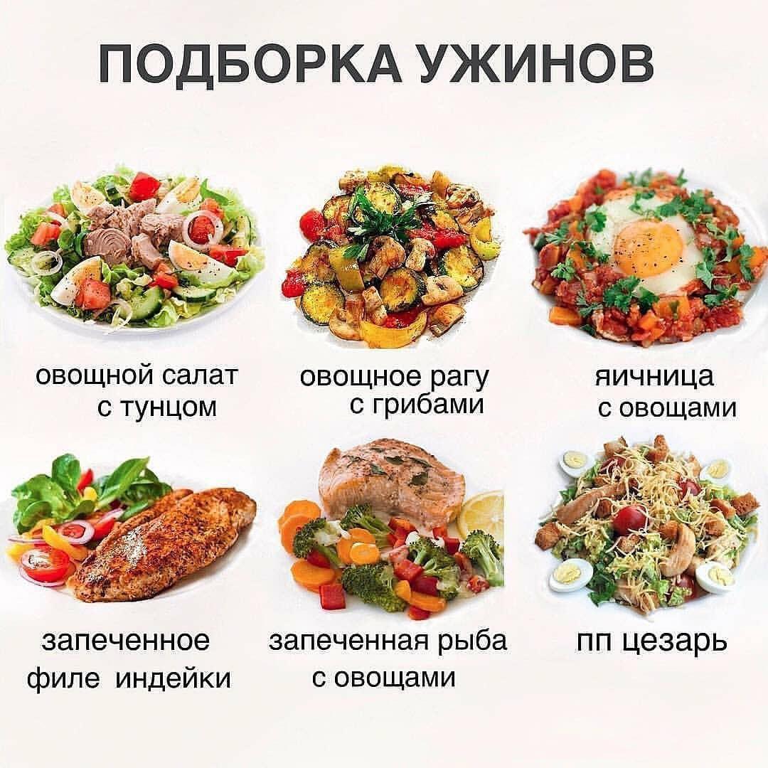 Варианты лёгких ужинов  Употребляйте вечером не более 20% пищи от дневной нормы калорий