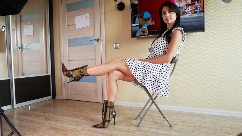 Catherina's Gianmarco Lorenzi pointy stiletto heels leather and pony fur booties Size EU36 5 US6 5