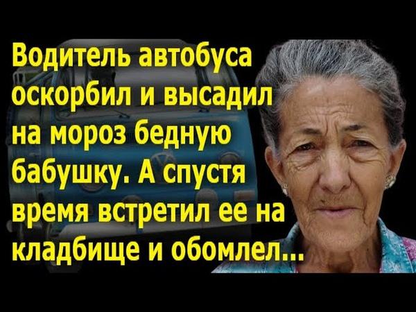 Бедную бабушку оскорбили и выгнали из автобуса А потом водитель встретил ее на кладбище и обомлел