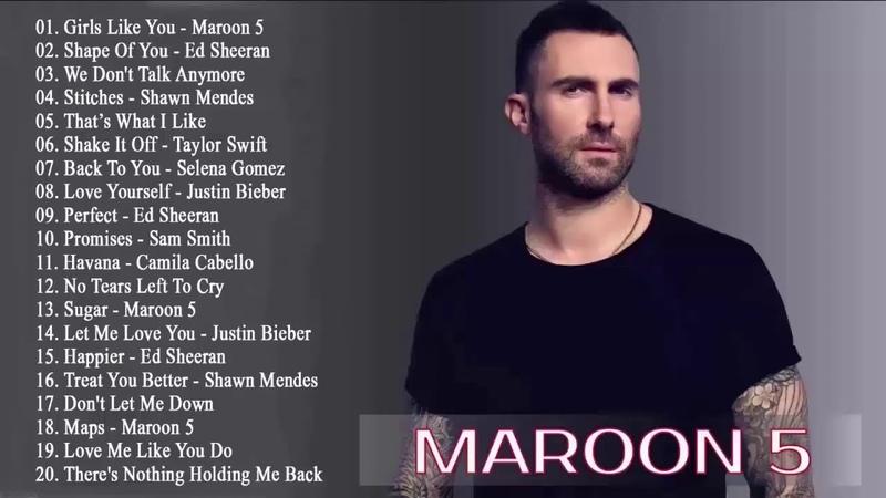 Rihanna, Maroon 5, Katy Perry, Bruno mars, Ed Sheeran, Charlie Puth, Ariana Grande Pop Hits 2020