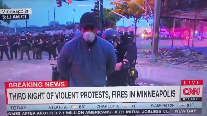 Патруль штата Миннесота задержал репортера CNN в прямом эфире