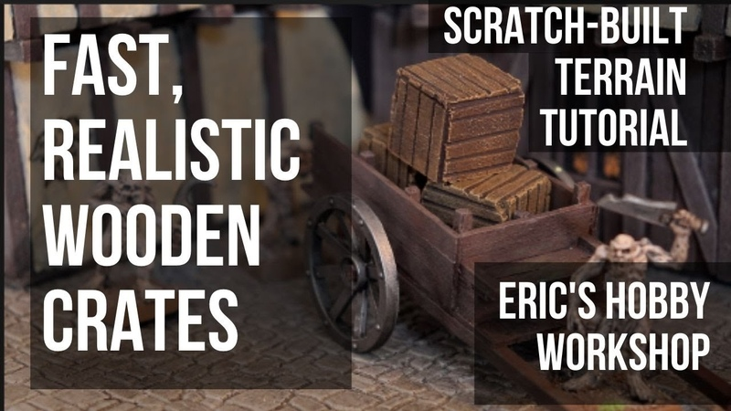 Fast and Realistic Scratch Built Wooden Crates for Warhammer Mordheim Dungeons and Dragons AOS
